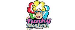 funky monkey popcorn logo