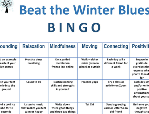 Self-care is especially important during the winter